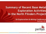 Summary of Recent Base Metal Exploration Activities ... - SA Explorers