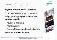 Company Presentation - Sekels GmbH