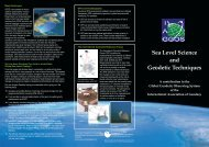 A brochure describing the Sea Level Science and Geodetic ...
