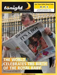 the world celebrates the birth of the royal baby - tonight Newspaper