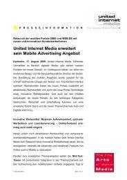United Internet Media erweitert sein Mobile Advertising Angebot
