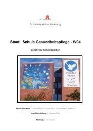 Bericht der Schulinspektion - Staatliche Schule Gesundheitspflege ...