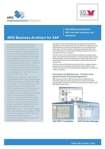 Factsheet ARIS Business Architect for SAP - IDS Scheer AG