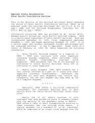 Union Pacific Distribution Services - U.S. Railroad Retirement Board