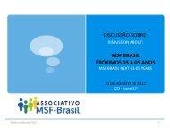 msf brasil próximos 03 a 05 anos - Médicos Sem Fronteiras