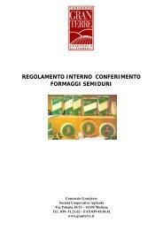 regolamento interno conferimento formaggi semiduri - Consorzio ...