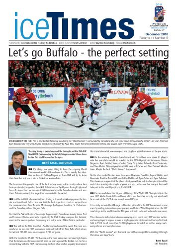 Let's go Buffalo - the perfect setting - IIHF
