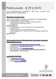 Parkausweis - § 29 b StVO - LOT