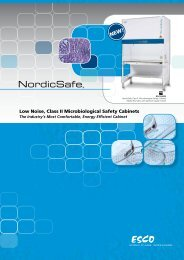 Low Noise, Class II Microbiological Safety Cabinets - Esco