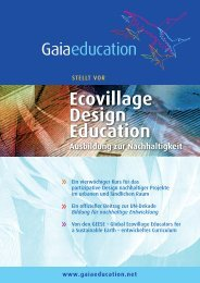 Ecovillage Design Education Ausbildung zur ... - Gaia Education
