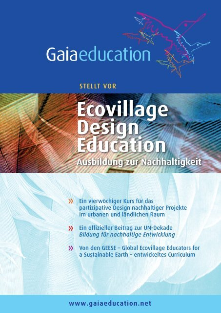 Ecovillage Design Education Ausbildung zur ... - Gaia Education