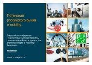Потенциал российского рынка e-mobility