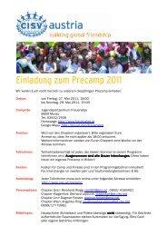 Einladung zum Precamp 2011 - CISV