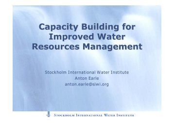 Capacity Building for Improved Water Resources Management - INBO