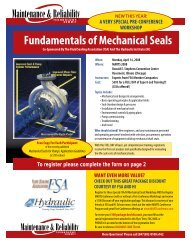 Fundamentals of Mechanical Seals - the Hydraulic Institute