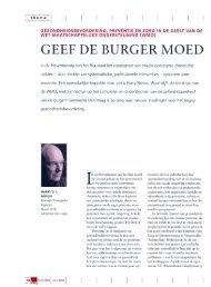 GEEF DE BURGER MOED - STG / Health Management Forum