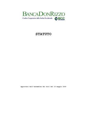 STATUTO - Banca Don Rizzo