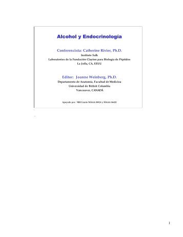 Conferencia con Apuntes - Research Society on Alcoholism