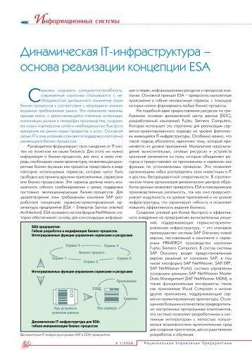 основа реализации концепции ESA - REM