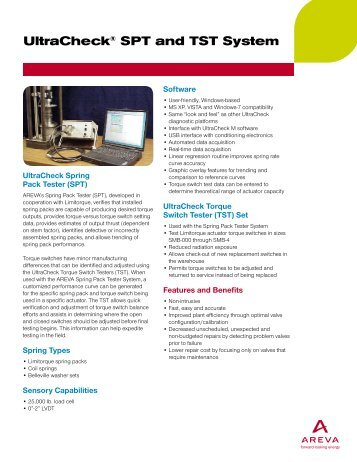 UltraCheck® SPT and TST System (pdf) - AREVA NP Inc.