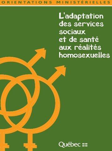 L'adaptation des services sociaux et de la santé aux réalités ...