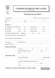 Comunicazione di fine lavori (53,31 kB - PDF) - Comune di Faenza
