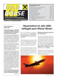 Geldbırse 5/04 - Raiffeisen Landesbank Tirol