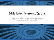 E-Mail/Archivierung/Quota - ITEK