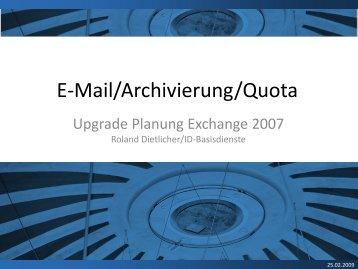 E-Mail/Archivierung/Quota - ITEK