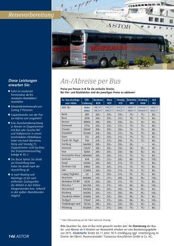 An-/Abreise per Bus