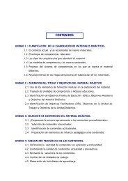 unidad 3 selección de contenidos del material didáctico - CEDECAP