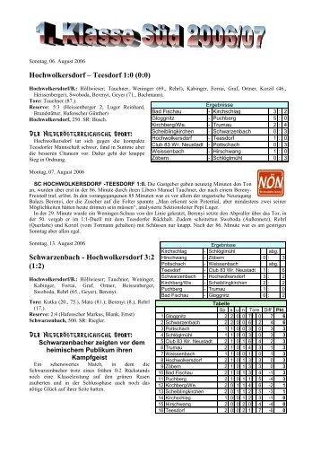 saison 2006/07_1. Klasse Süd [2 MB] - SC HOWODO