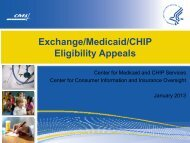 Exchange/Medicaid/CHIP Eligibility Appeals - Medicaid.gov