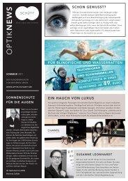 Opti News Sommer 2011 - Optik Schütt