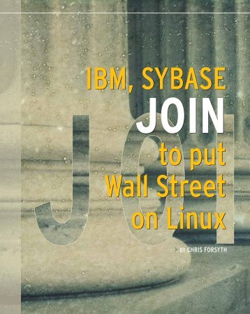 IBM, Sybase join to put Wall Street on Linux