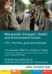 Merseyside Transport, Health and Environment Forum - the ...