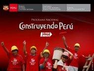 Programa Nacional Construyendo Perú. David Palacios