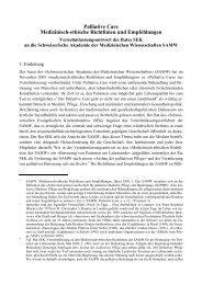 Palliative Care - Schweizerischer Evangelischer Kirchenbund SEK
