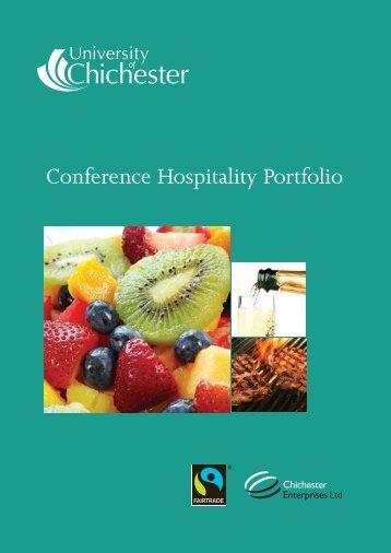 Hospitality Brochure - University of Chichester