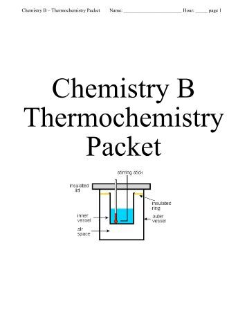 chemistry thermochemistry packet specific heat play ben. Black Bedroom Furniture Sets. Home Design Ideas
