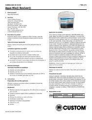 Aqua Mix® Reviver® - Custom Building Products