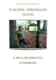 2011.05.29 Einladung Bundesforstfrauentreffen ... - Treffpunkt Wald