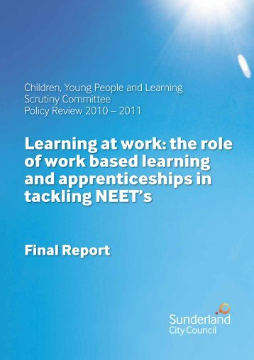 Role of work based learning - Sunderland City Council