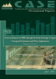 Access to Finance for SMEs through the Stock Exchange in Egypt