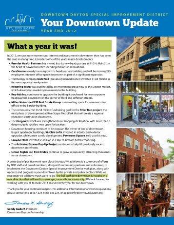 Download 2012 Year End Progress Report PDF - Downtown Dayton ...