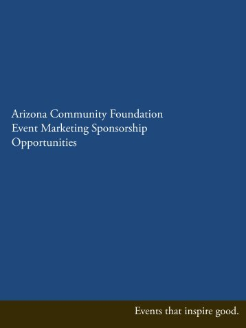 Download the packet - Arizona Community Foundation