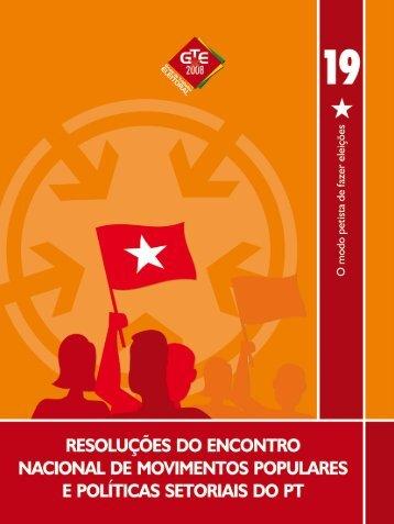 Caderno Setorial Movimentos Populares 2008