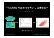 What is Cosmology? - Elementary Particle Physics Group