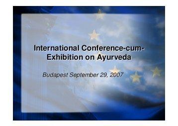 International Conference-cum- Exhibition on Ayurveda International ...