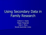 Using Secondary Data in Family Research - National Council on ...